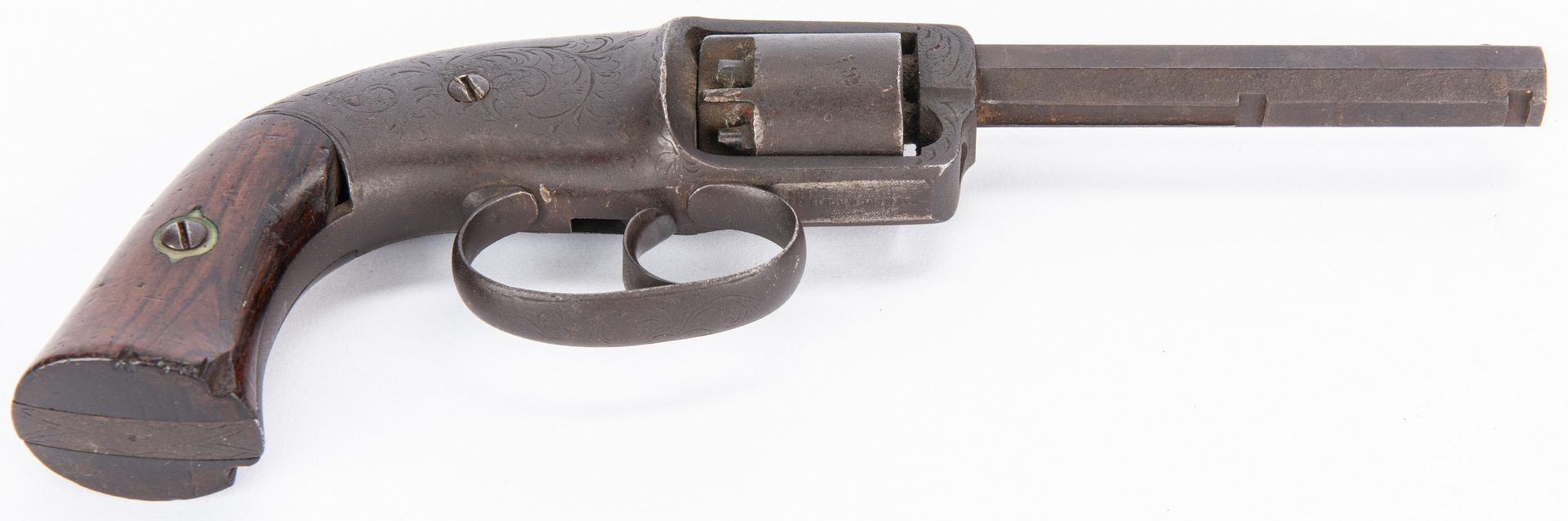 Lot 395: Civil War era C.S. Pettengill DA Navy Model Revolver, .34 Cal.