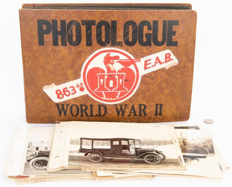 Lot 398: WWII Photo Album, plus Ford Model-T Photos