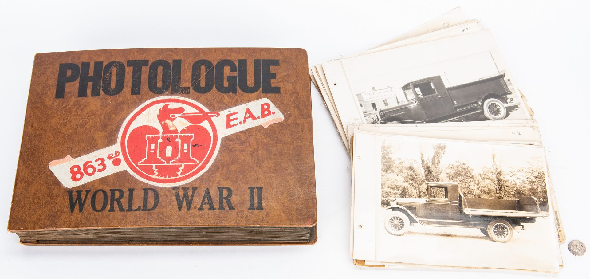 Lot 398: WWII Photo Album, plus Ford Model-T Photos