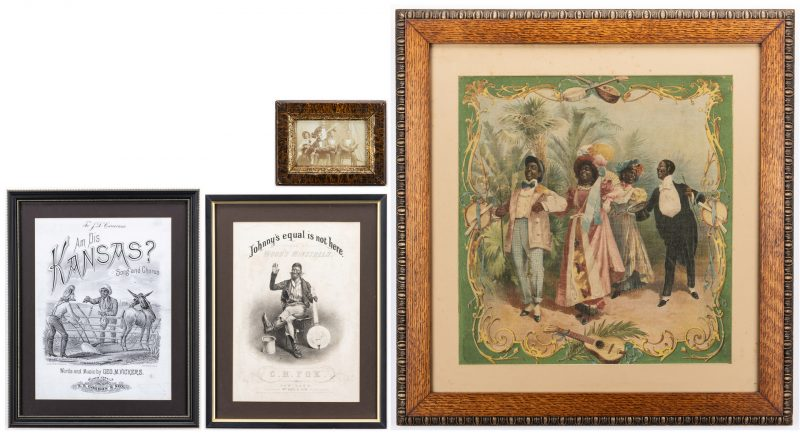 Lot 409: Group of 4 Minstrel Related Items, inc. CDV