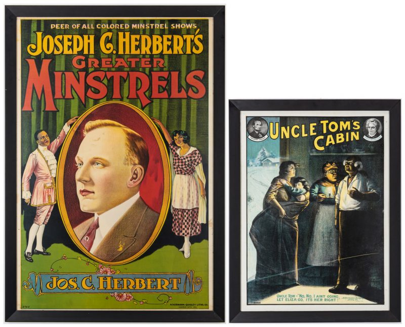 Lot 411: 2 Black Americana Posters
