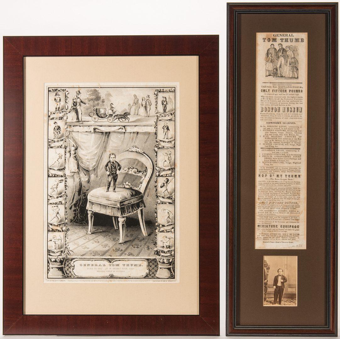 Lot 415: Genl. Tom Thumb print, clipping and CDV