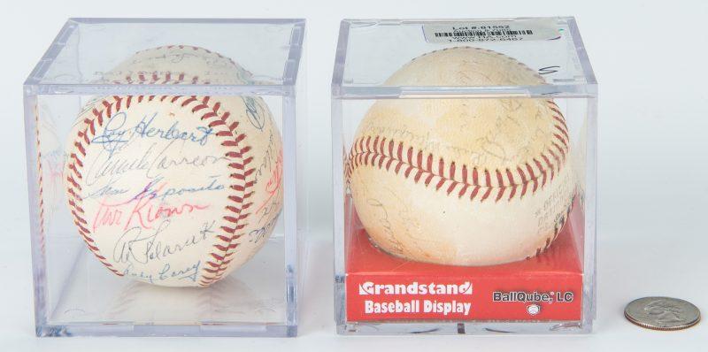 Lot 420: 2 Autographed Baseballs, inc. 1961 White Sox