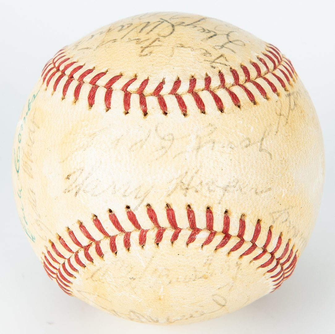 Lot 420: 2 Autographed Baseballs, inc. 1961 White Sox