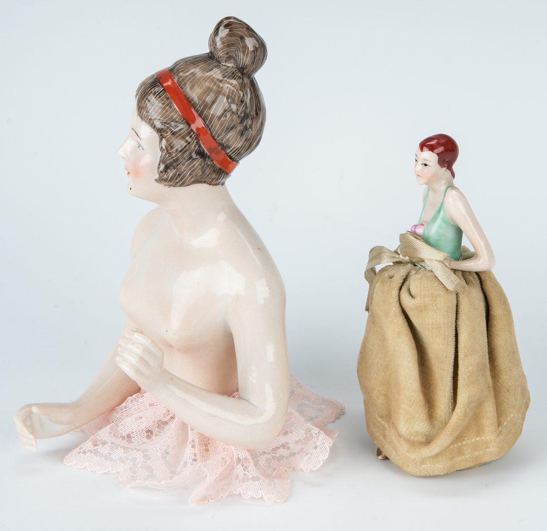 Lot 424: 6 Half Dolls inc. Karl Schneider, 8 items