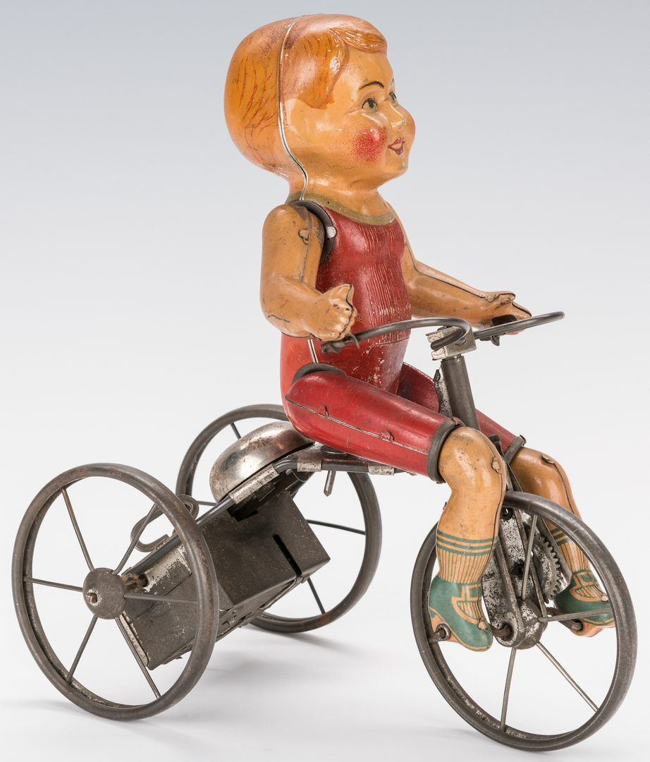 Lot 429: Vintage Kiddy Cyclist Wind-up Toy