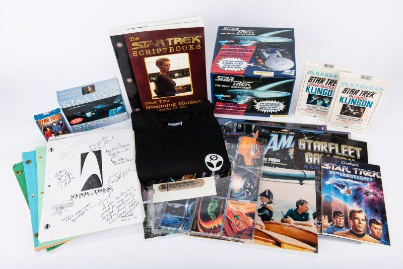 Lot 430: Group of 108 Star Trek Collectibles, inc. Enterprise Clock