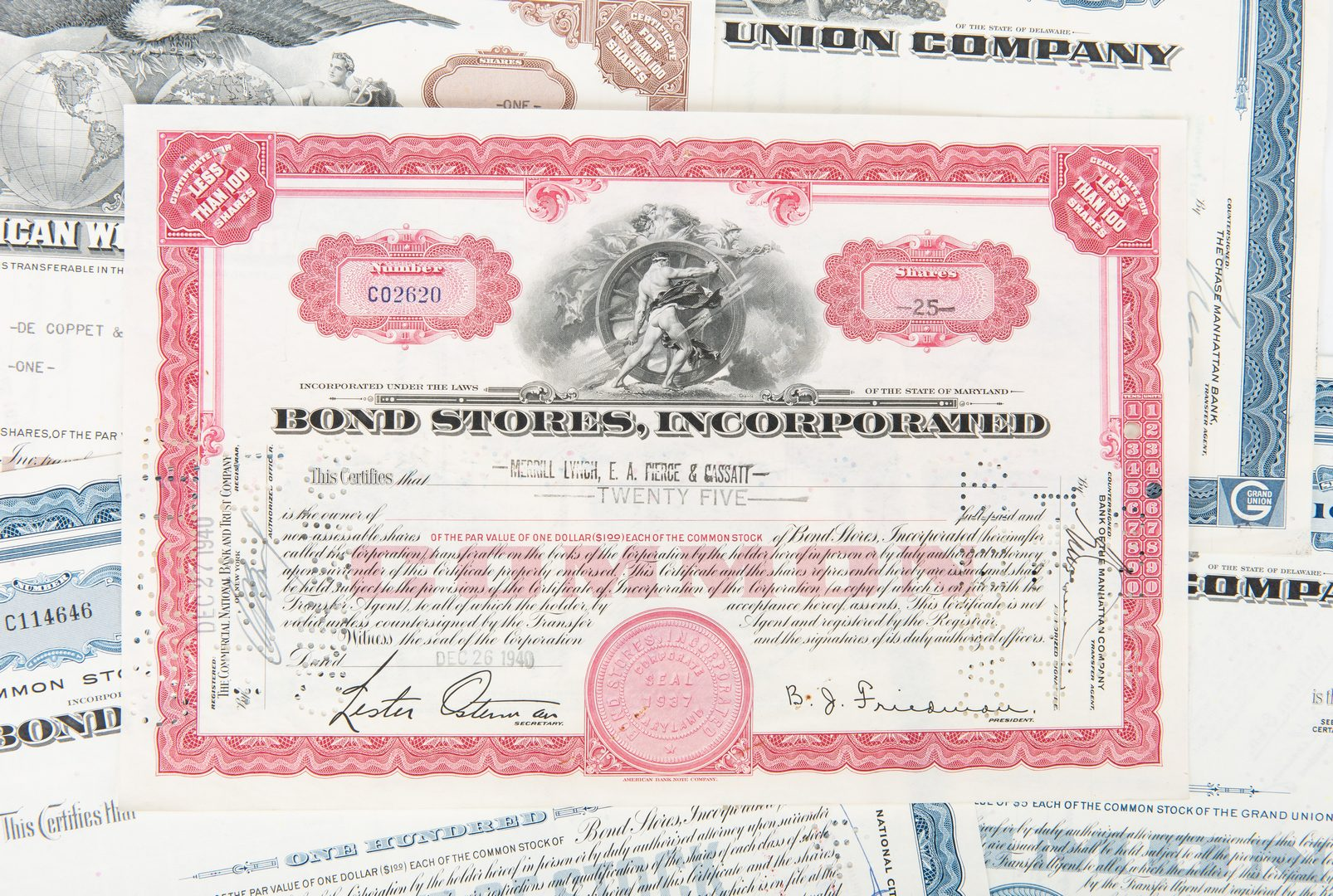 Lot 431: Group of 330 20th Cent. Stock Certificates