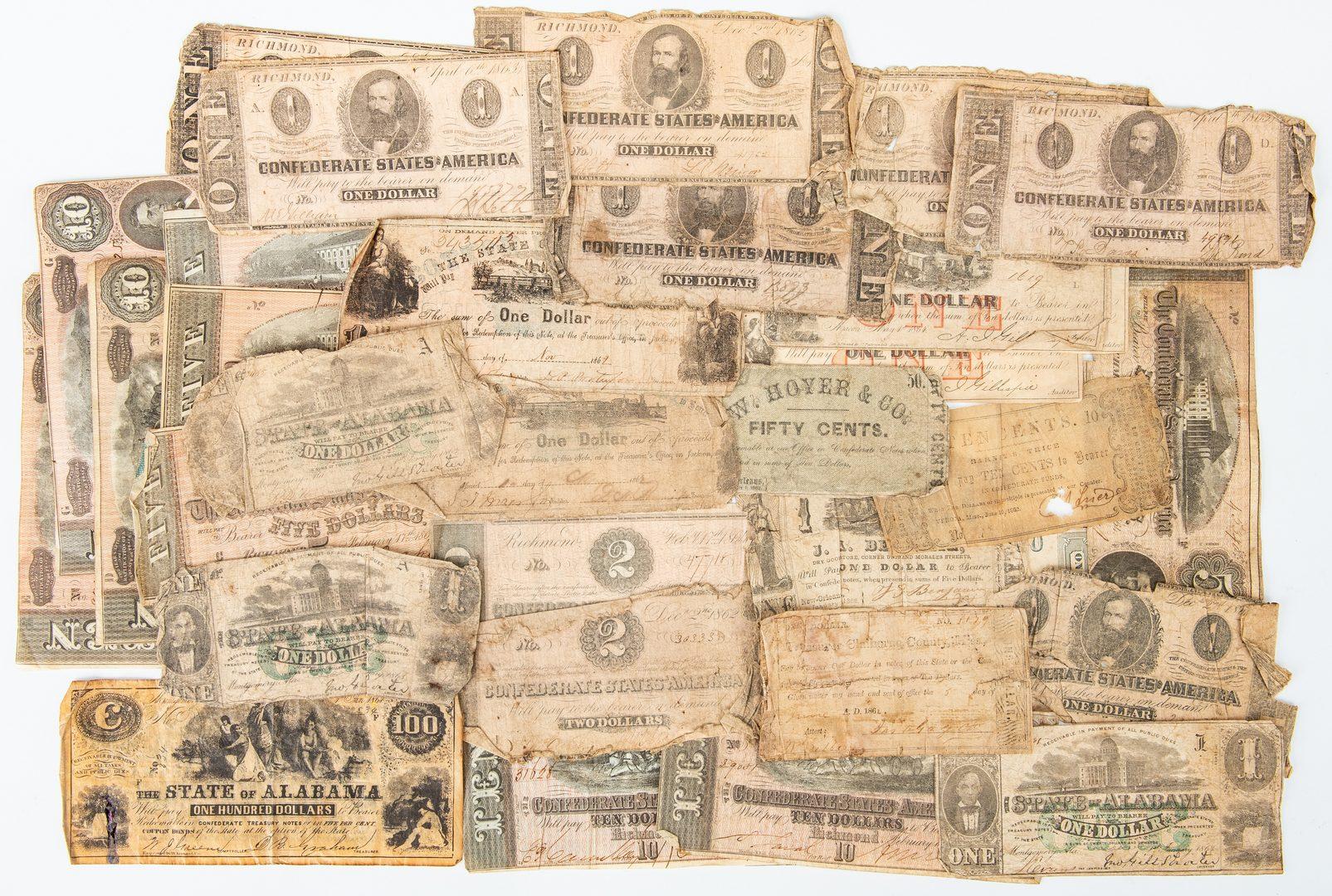 Lot 436: Group 32 Confederate Bills