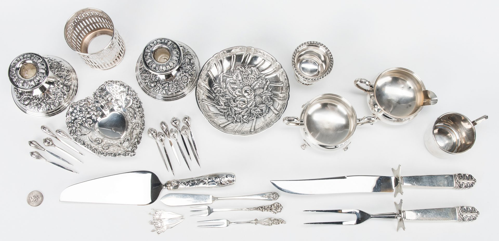 Lot 43: 31 items Sterling Flatware & Tableware