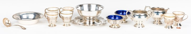 Lot 46: 13 Assembled Sterling Table Items