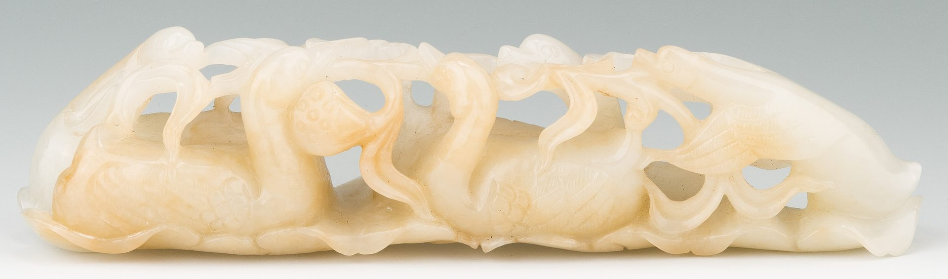Lot 4: Chinese Carved Jade Figural Brush Rest