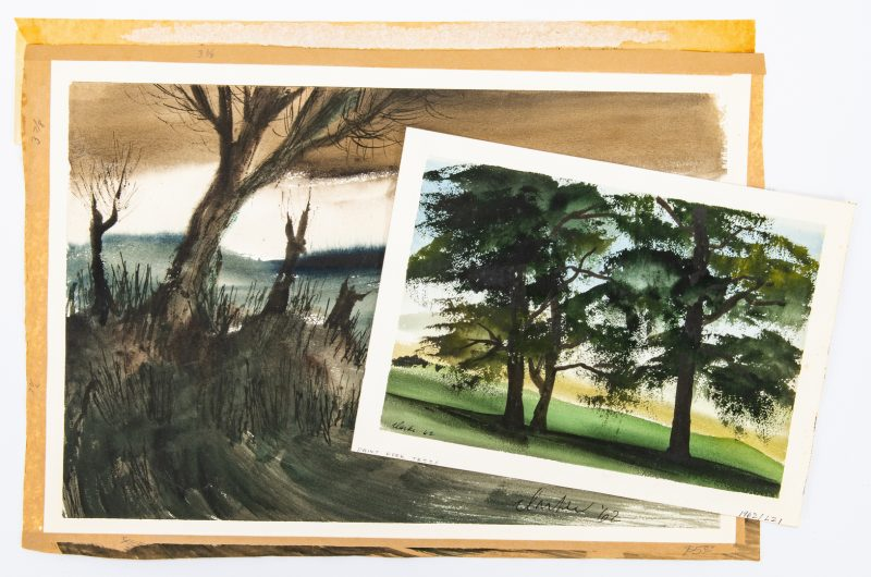 Lot 50: 2 Richard Clarke Watercolor Landscapes