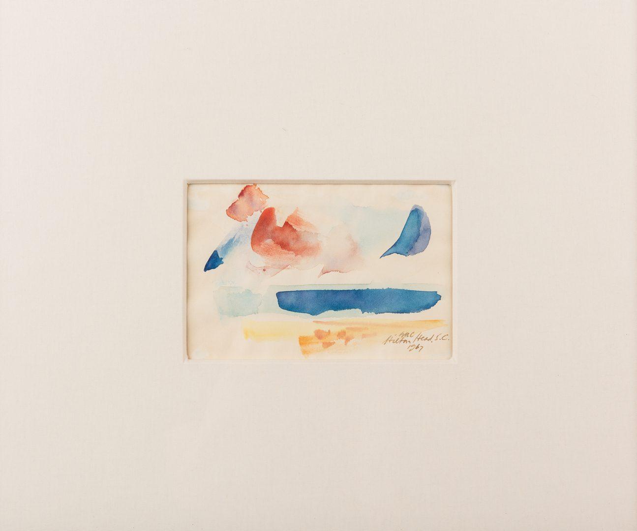 Lot 51: George Cress Small Watercolor, Hilton Head