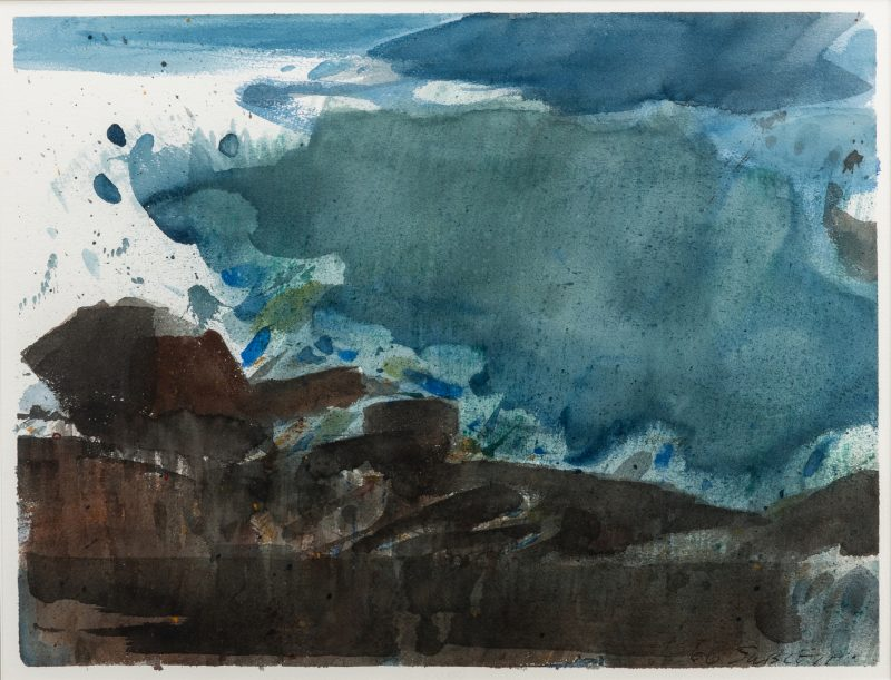 Lot 53: Carl Sublett Landscape Watercolor
