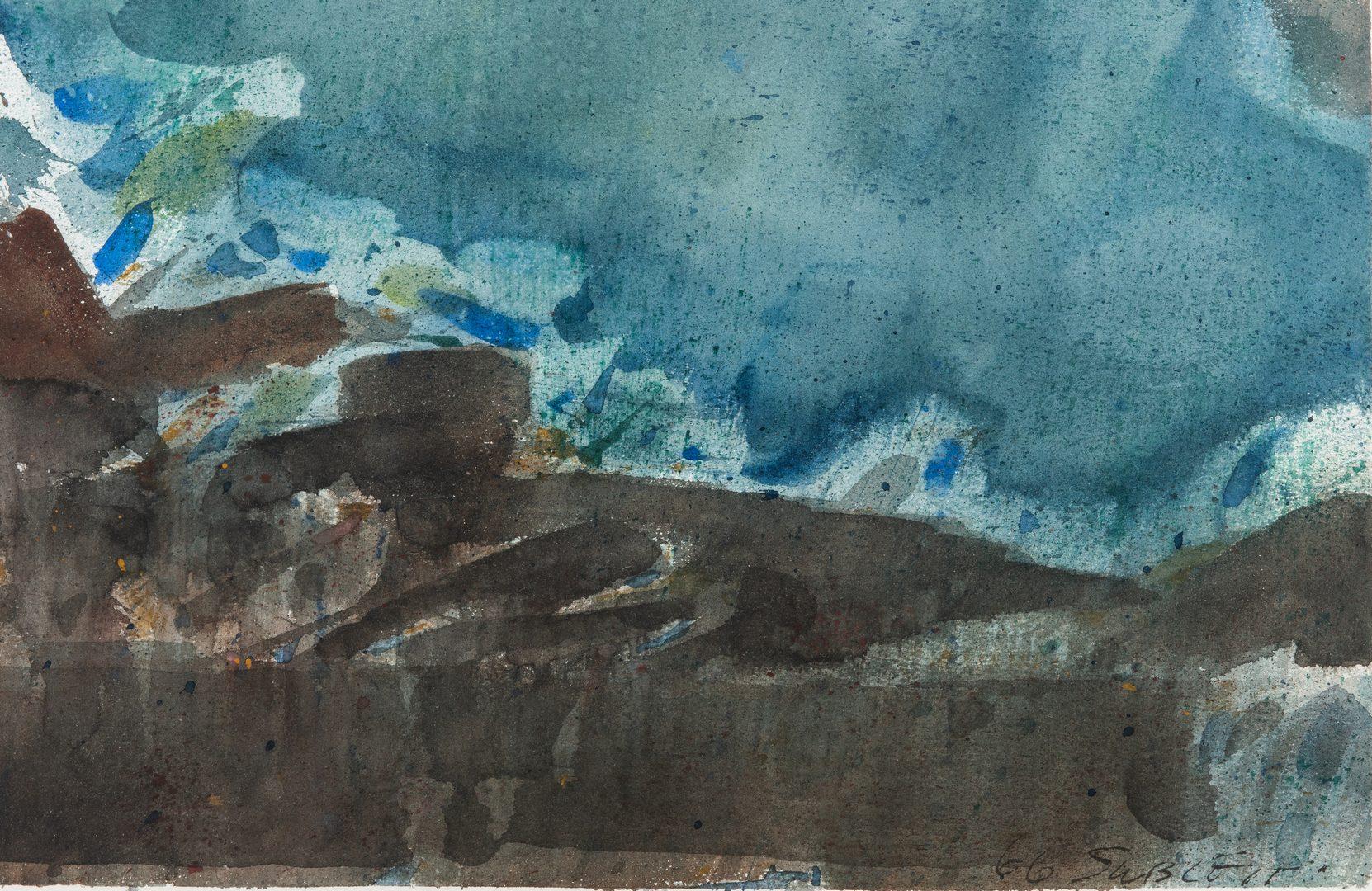 Lot 53: Carl Sublett Landscape Watercolor