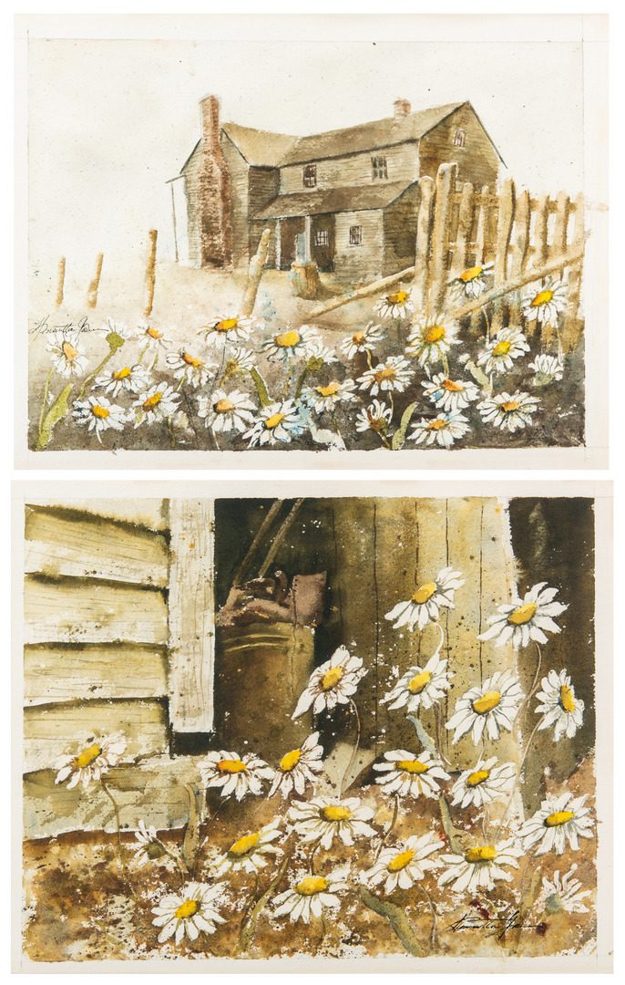 Lot 54: Pair of Henrietta Green Watercolors
