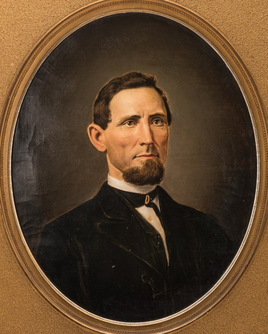 Lot 56: Attr. Washington Cooper, Tennessee Portrait of a Man