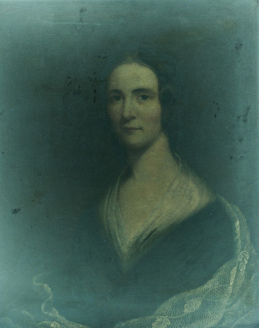 Lot 57: Attr. J. W. Jarvis, Portrait of Maria Holmes