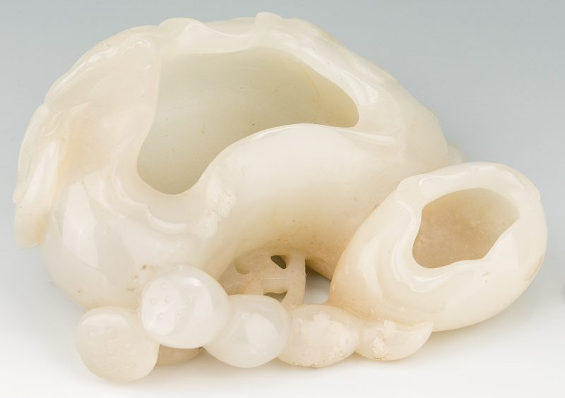 Lot 5: Chinese White Jade Double Brush Washer