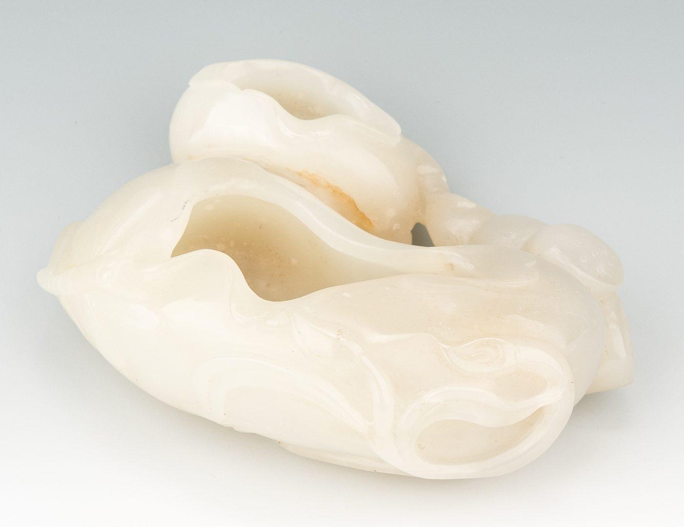 Lot 5: Chinese White Jade Double Brush Washer