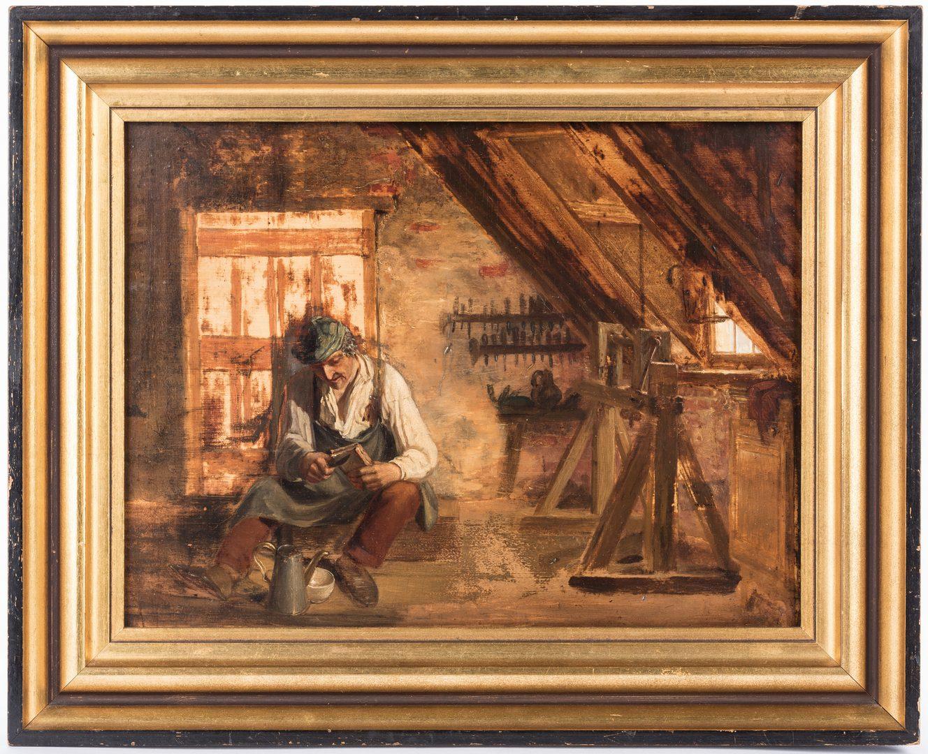 Lot 64: 2 Dutch School Genre O/B Paintings
