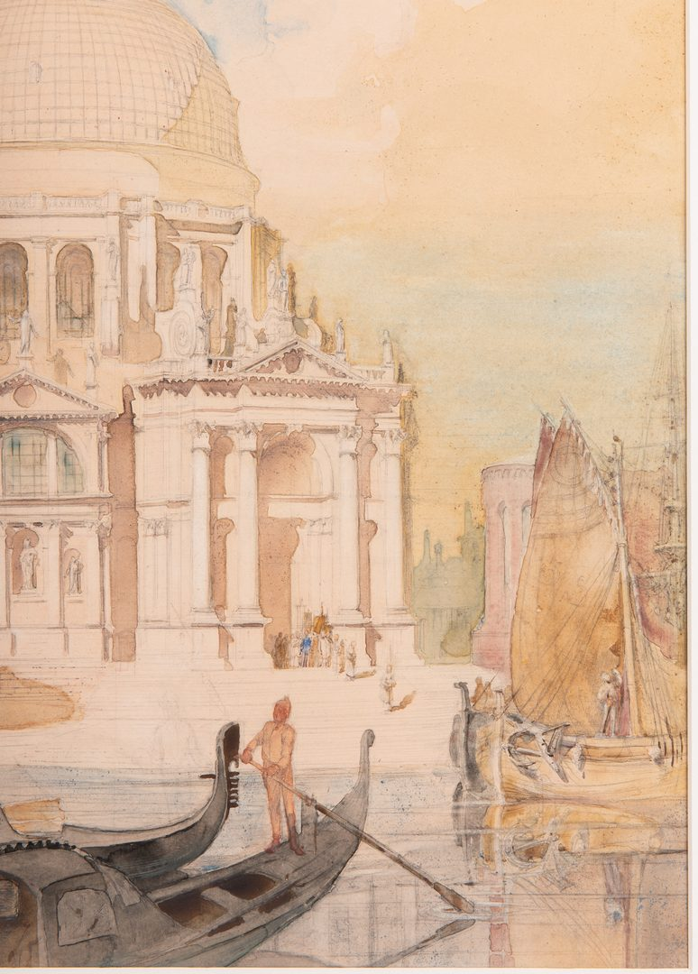 Lot 65: Alfred Conrade Venetian Scene Watercolor