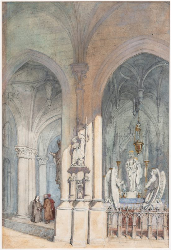 Lot 66: Alfred Conrade Cathedral Scene Watercolor