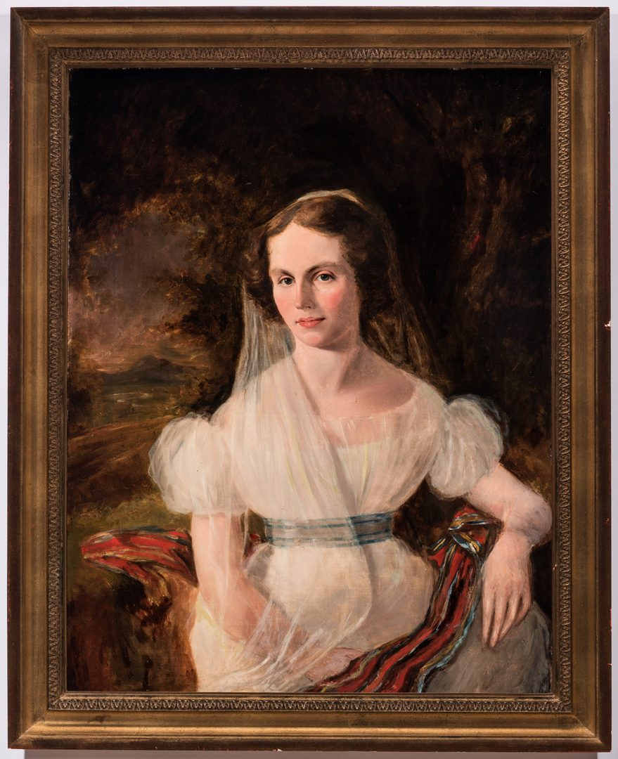 Lot 67: Continental School Portrait of a Young Woman