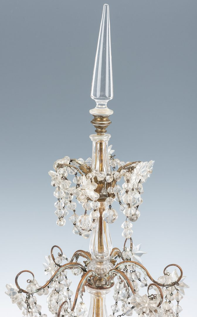 Lot 74: Continental Bronze Crystal Candelabrum