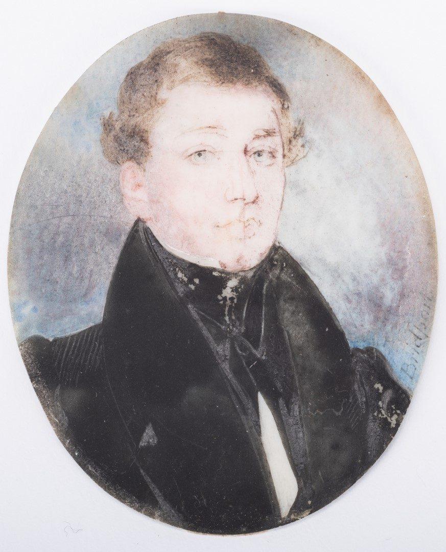 Lot 78: 2 Portrait Miniatures, Coltellini & Bridport