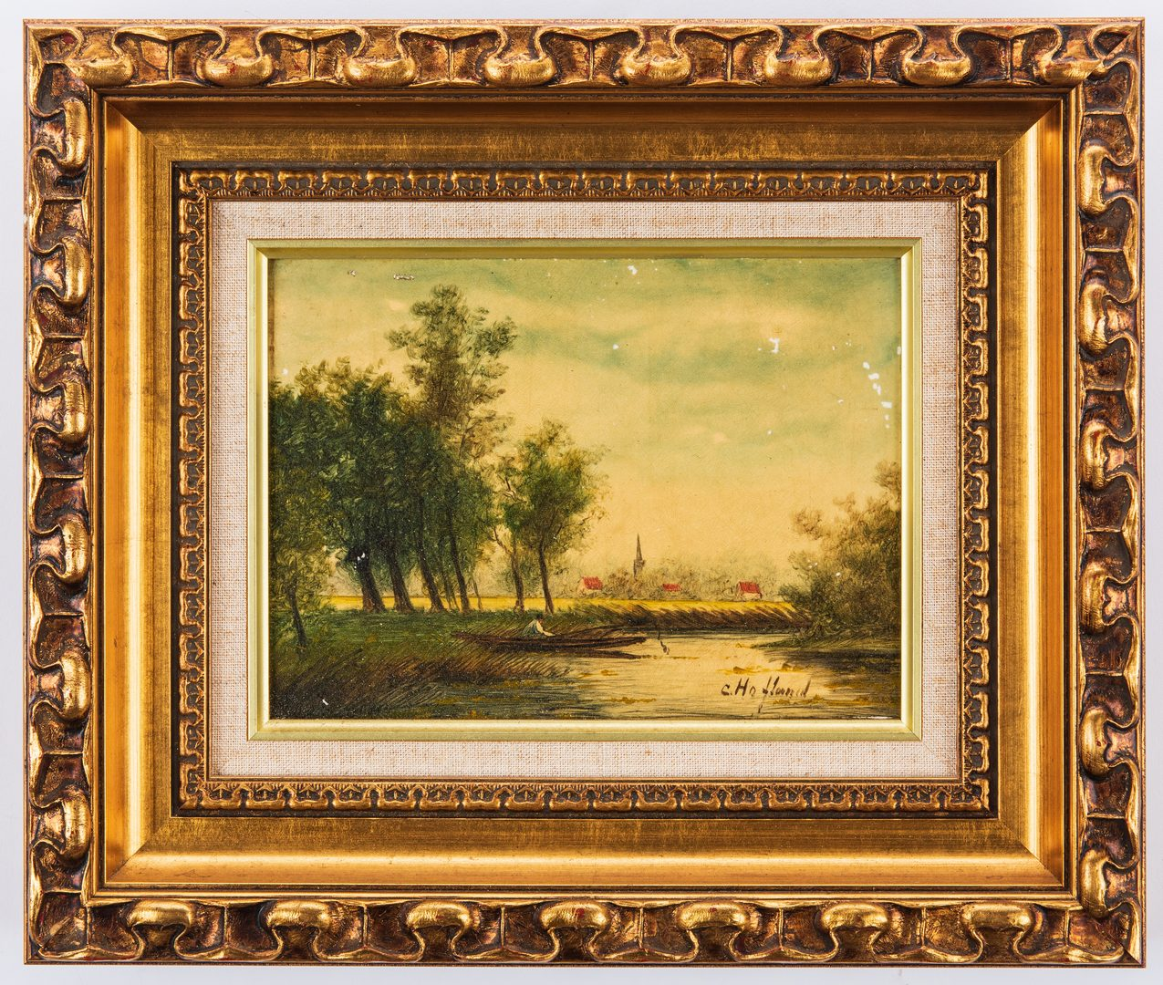 Lot 81: 2 European Miniature Landscape Paintings