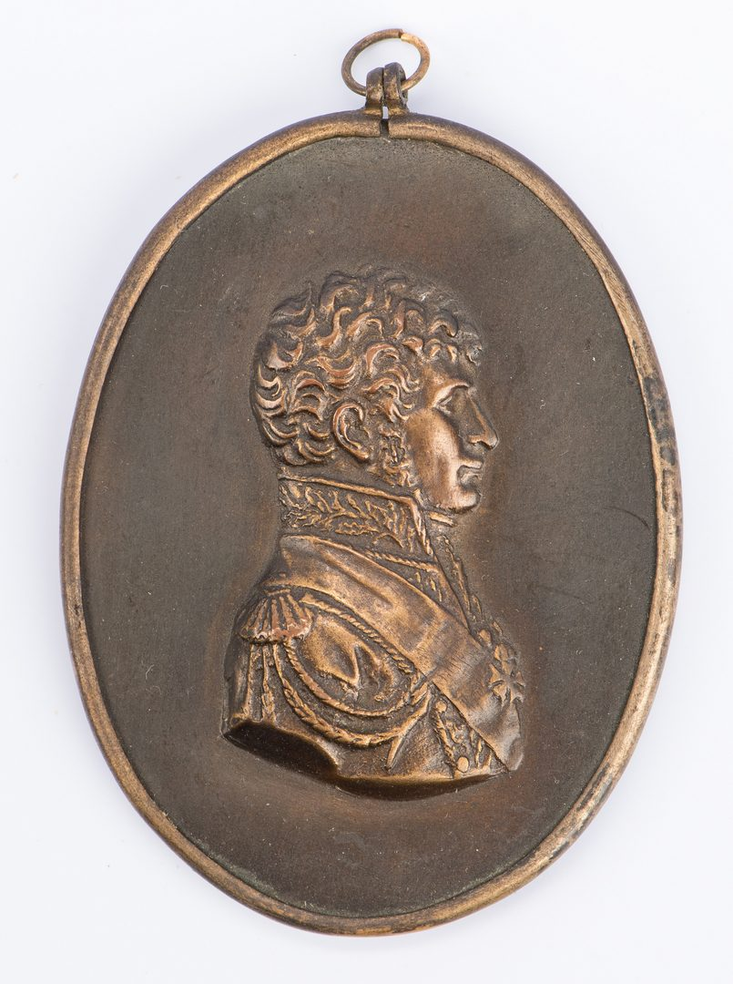 Lot 82: 4 European portraits and medallions