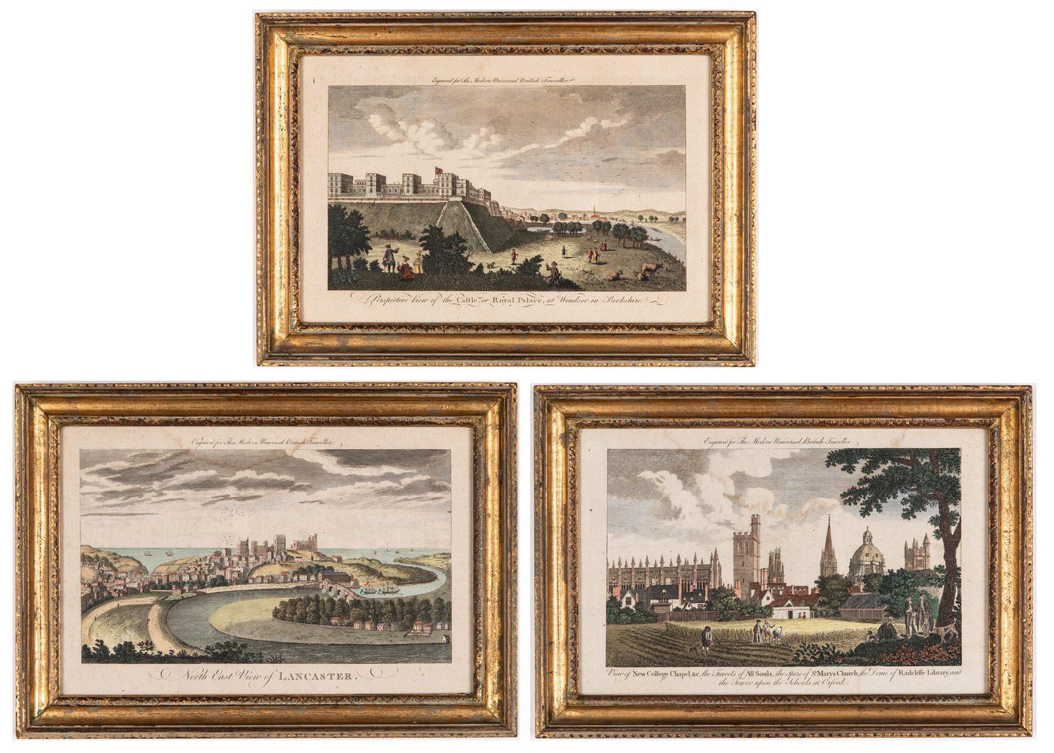 Lot 83: 3 English Landmark Engravings