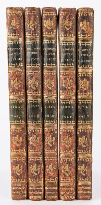 Lot 86: Donovan's Natural History of Birds, 5 Vols.