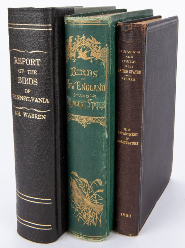 Lot 93: 3 Bird Books: Birds of NE and PA, Hawks and Owls
