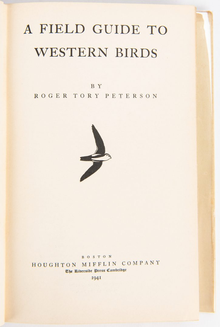 Lot 96: 13 Roger Tory Peterson, 1st Ed & Signed Bird Books