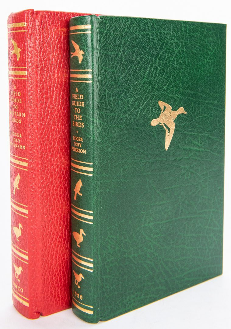Lot 97: 8 Roger Tory Peterson, Leather-bound Collection, inc. 2 Signed