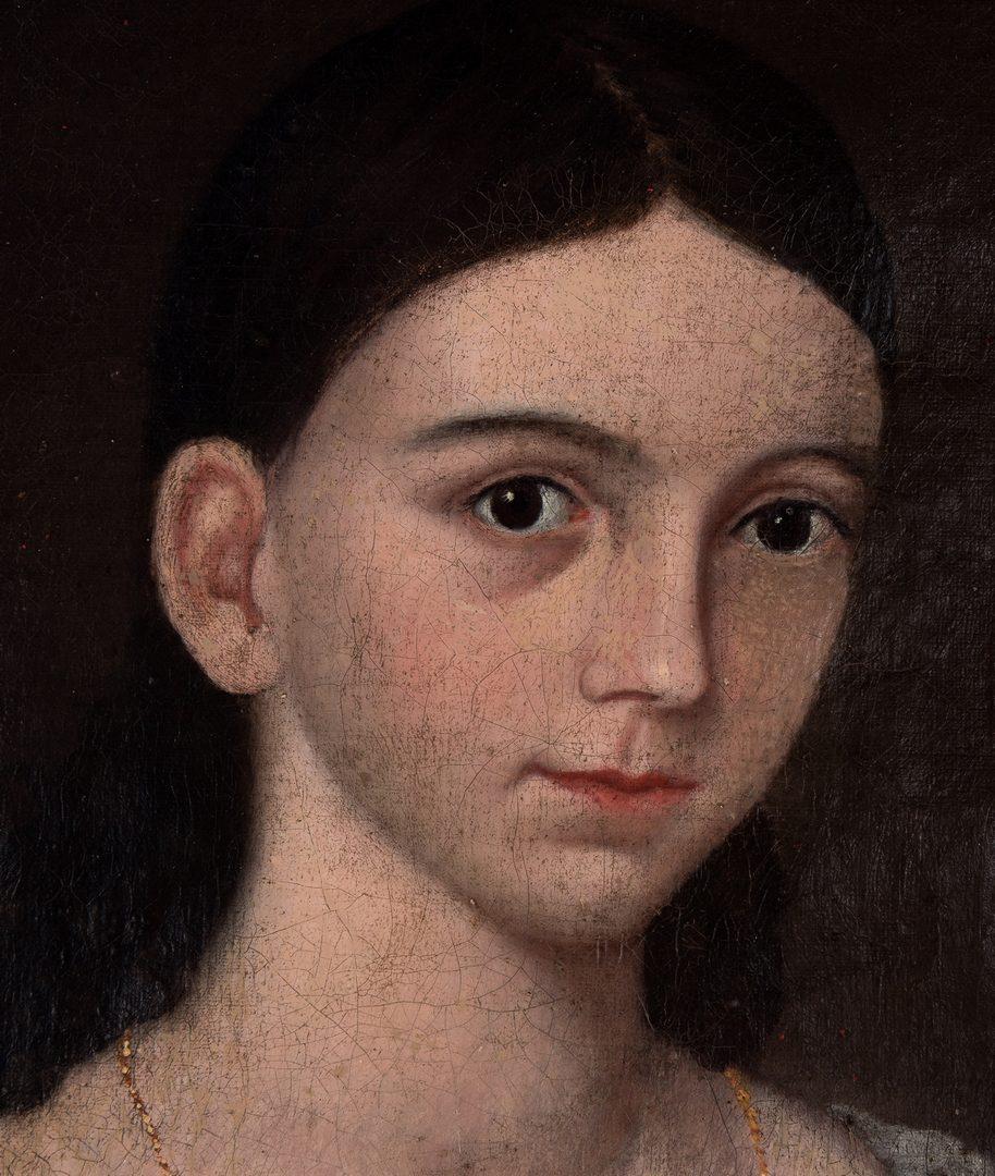 Lot 101: Southern Folk Art Portrait of a Girl