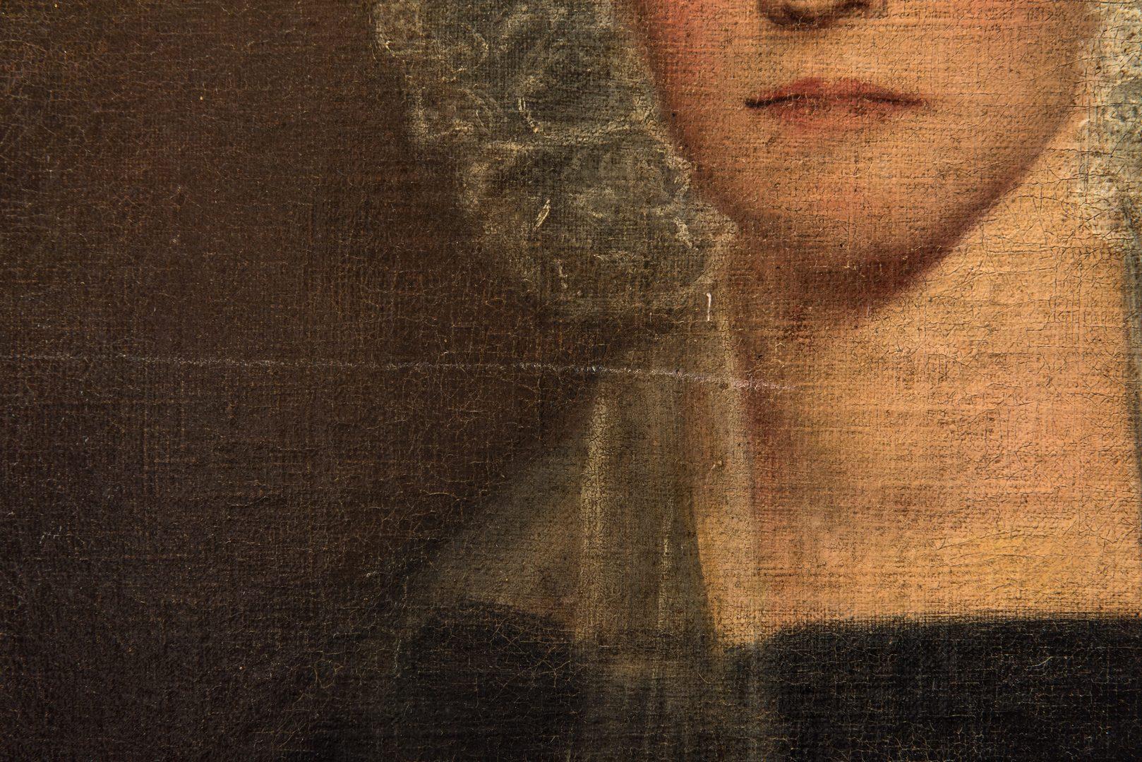 """Lot 102: 19th C. Portrait of a Woman, """"Gillespie"""""""