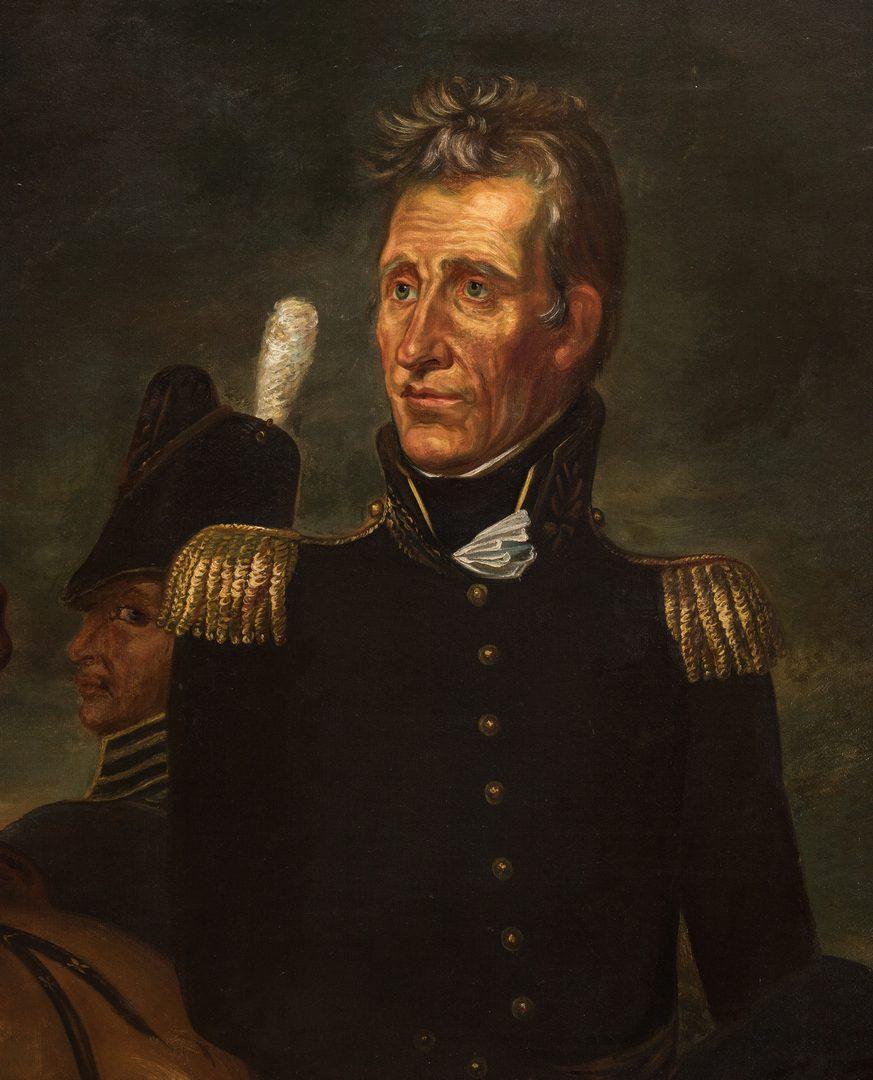 Lot 104: Andrew Jackson Portrait attrib. Leutze