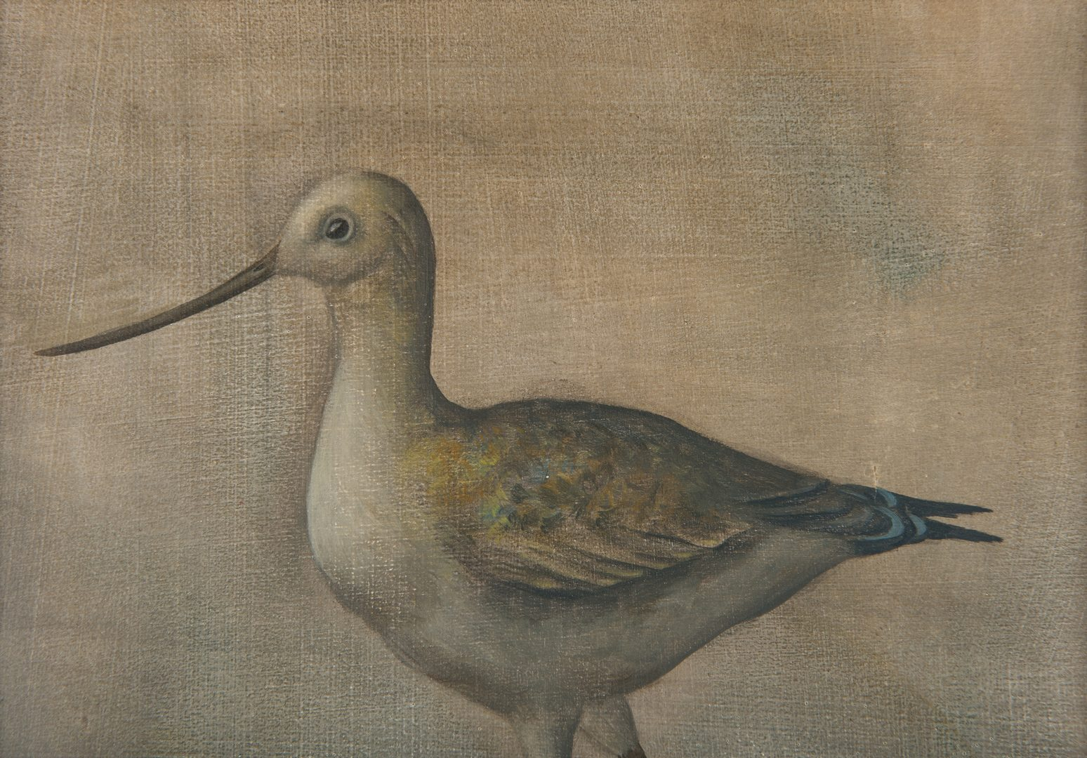 Lot 106: Werner Wildner Painting, Bird and Egg