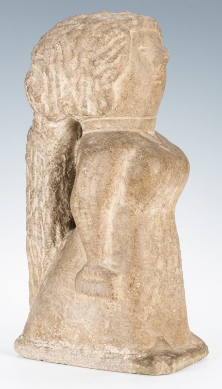 "Lot 110: William Edmondson Sculpture, ""Miss Lucy"""
