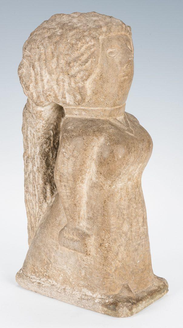 "Lot 110: William Edmondson Sculpture, ""Miss Lucy"""