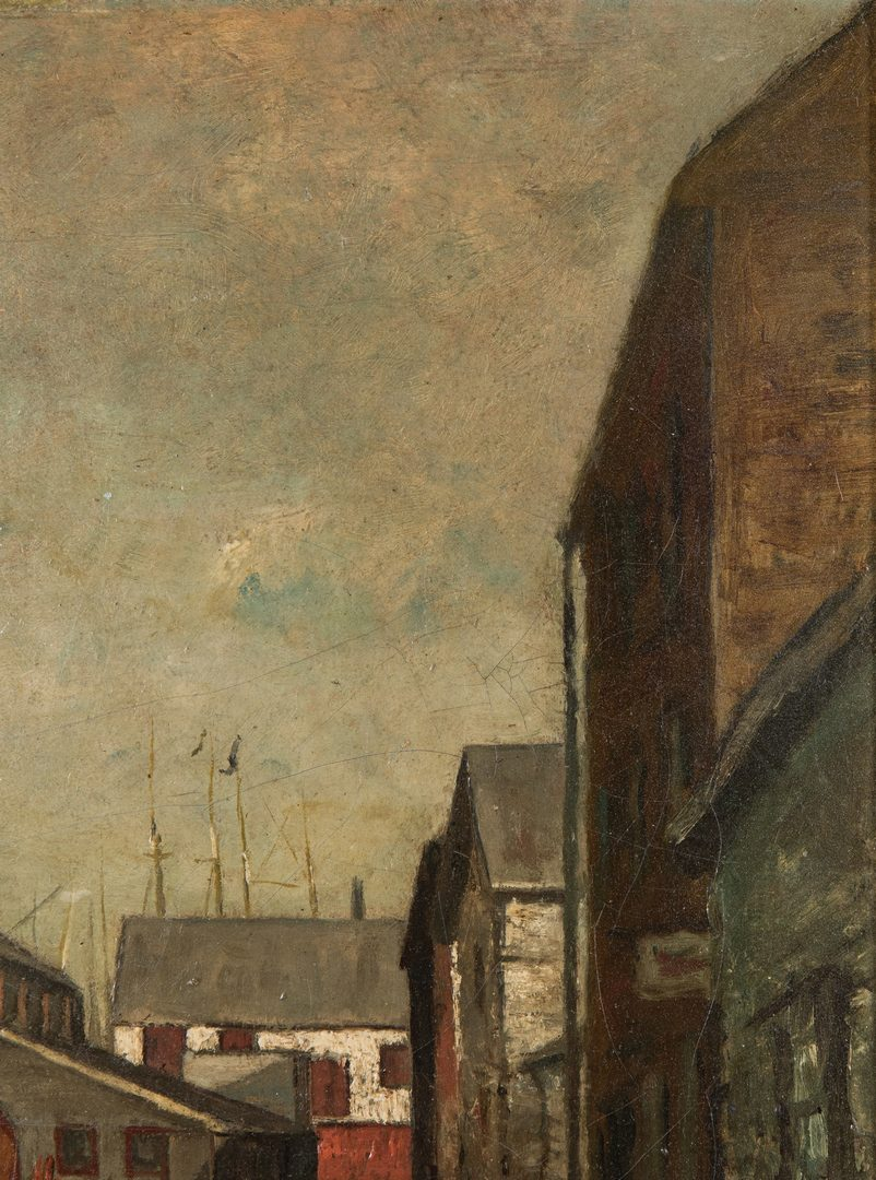 Lot 112: Charles Woodbury Exhibited Oil, Cape Ann Village