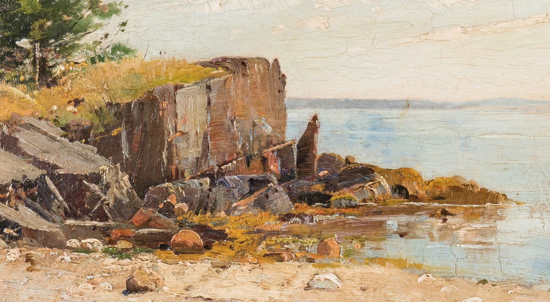 Lot 113: Charles Edwin Lewis Green O/C, Coastal Landscape
