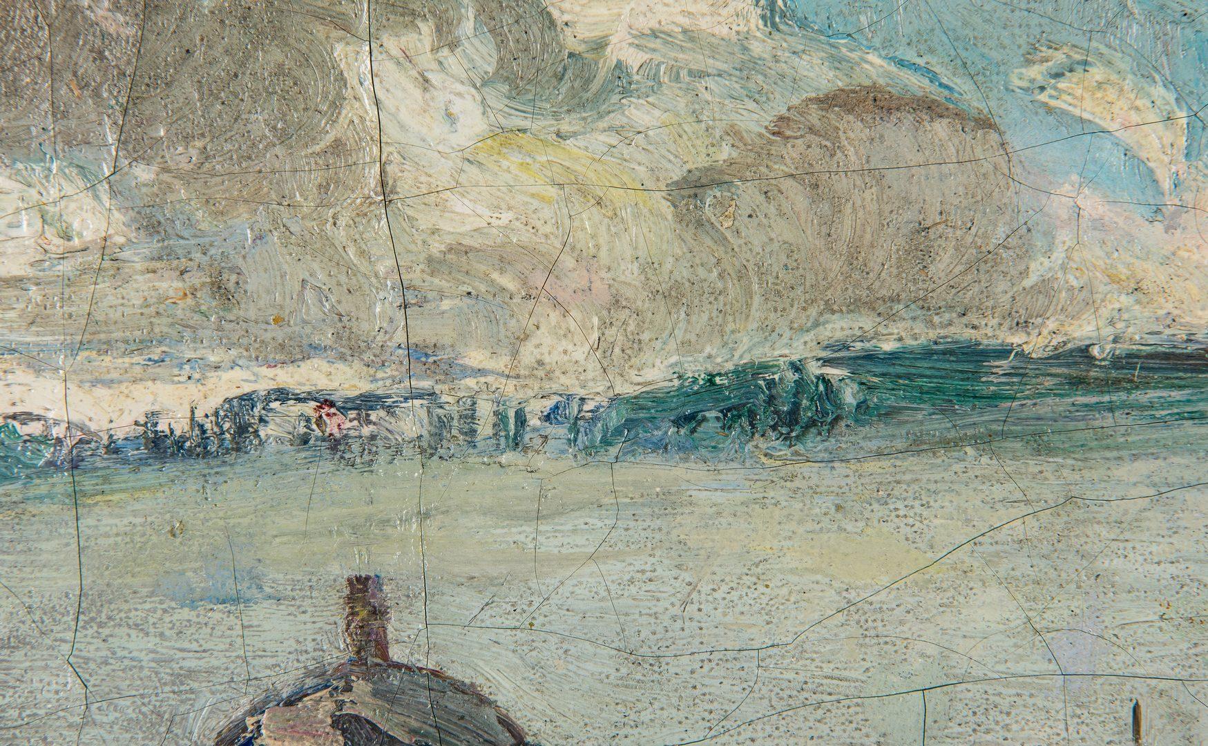 Lot 114: Hayley Lever O/C St. Ives, Cornwall Harbor Scene