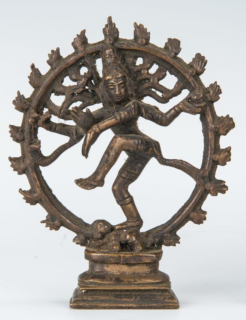 Lot 11: 4 Thai Hindu Bronze & Metal Figures, incl. Buddhas