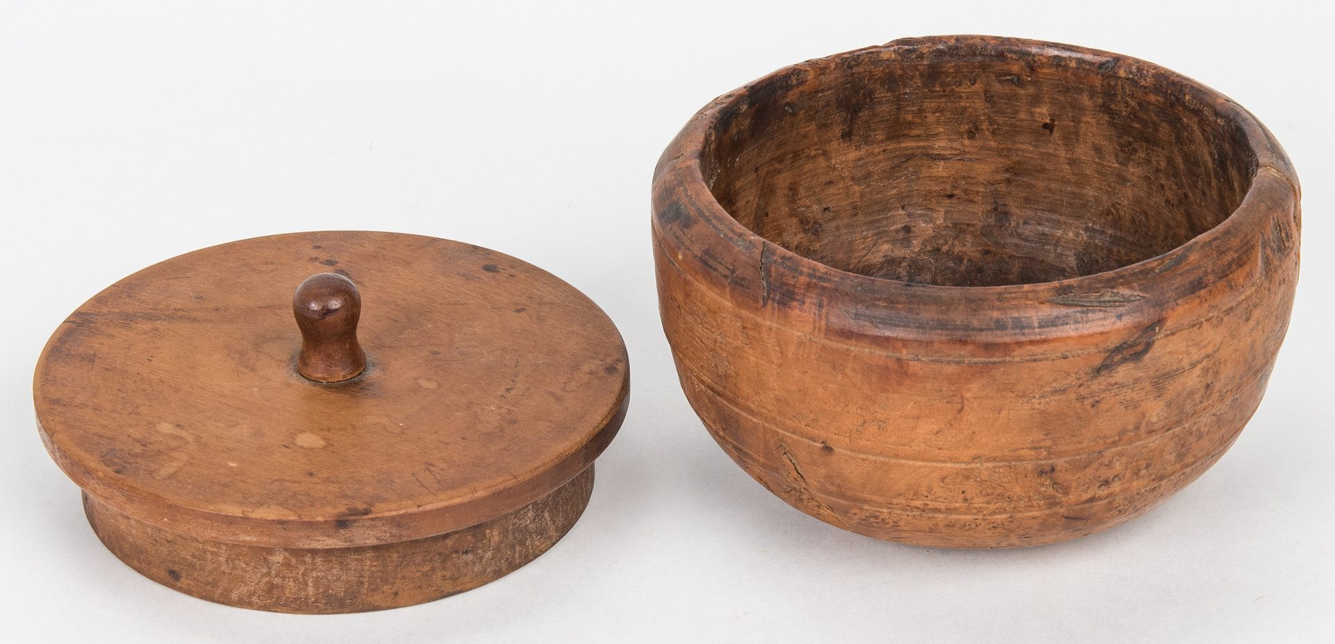 Lot 123: 4 19th Cent. Burl & Treenware Items
