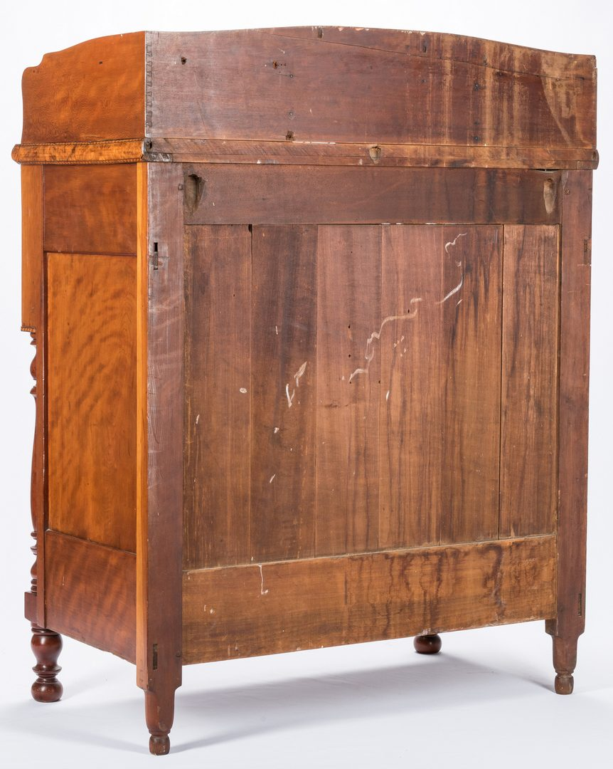 Lot 126: Inlaid Tiger Maple Chest of Drawers